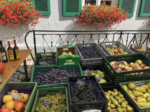 Obst in Gerstetten auf dem Wochenmarkt
